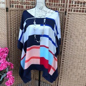 💋  Lane Bryant  💋 Color Block Kimono Top